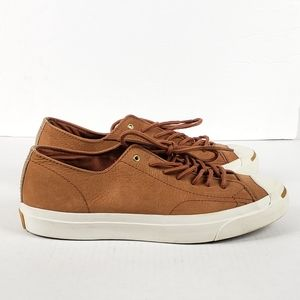 Converse Jack Purcell Tan Leather Oxford Sneaker